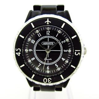 アビステ(ABISTE)のABISTE(アビステ)美品  - レディース 黒(腕時計)