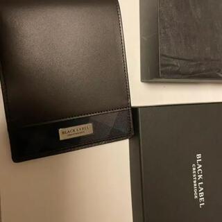 ブラックレーベルクレストブリッジ(BLACK LABEL CRESTBRIDGE)のバーバリー 二つ折り財布 長財布 ブラックレーベル クレストブリッジ 革財布(折り財布)
