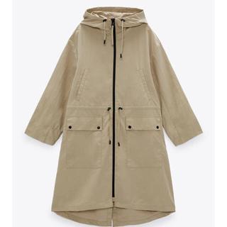 ザラ(ZARA)のザラ 今期 新品 ロングウォーターリパレントジャケット ナイロンジャケット 撥水(ナイロンジャケット)