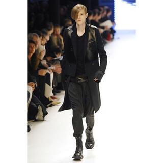 DIOR HOMME - 07AW Dior homme ディオールオム レザーパネルライダース 44
