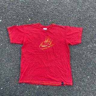 ナイキ(NIKE)の90s 古着 NIKE ナイキ Tシャツ  フレイム ファイヤー 炎(Tシャツ/カットソー(半袖/袖なし))