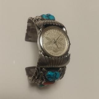 インディアン(Indian)のインディアンジュエリー時計 ナバホ族(バングル/リストバンド)