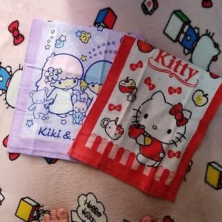 サンリオ - キティちゃん&キキララ フェイスタオル