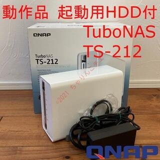動作品 起動用HDD付 Turbo NAS QNAP TS-212 元箱無(PC周辺機器)