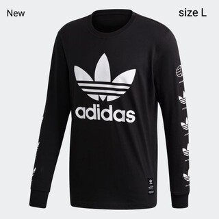 adidas - 新品 L adidas originals ロンT  ヒストリー 長袖 黒