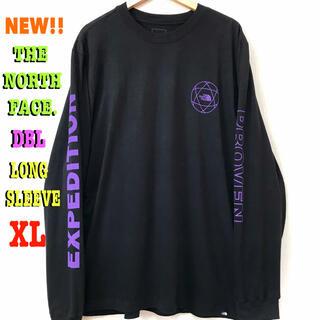 ザノースフェイス(THE NORTH FACE)のGW発送さん専用 XL相当 新品 ノースフェイス DBL ロンT パープル 紫(Tシャツ/カットソー(七分/長袖))