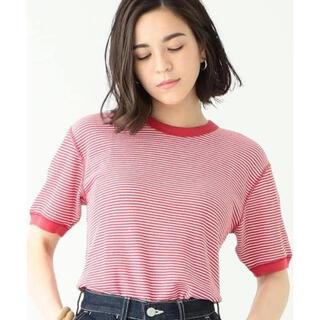 ビームスボーイ(BEAMS BOY)のBEAMS   Healthknit 赤色 ボーダー Tシャツ♥️(Tシャツ(半袖/袖なし))