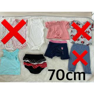 ザラ(ZARA)の70cm  9点女の子服まとめ売り 半袖 ズボン ショートパンツ 肌着 ブルマ他(Tシャツ)
