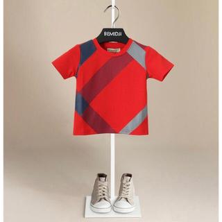 セール レッド チェック Tシャツ トップス インナー (Tシャツ/カットソー)