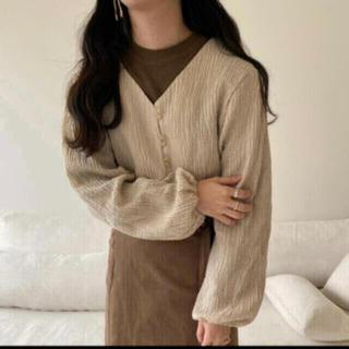 カスタネ(Kastane)のlawgy cotton short cardigan(カーディガン)