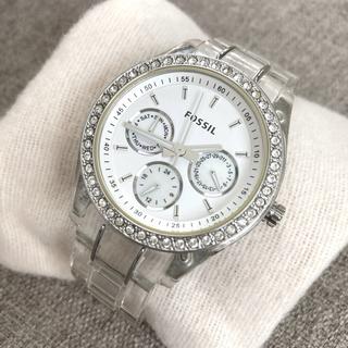 フォッシル(FOSSIL)のFOSSIL CLEAR BAND GLITZ WATCH(腕時計)