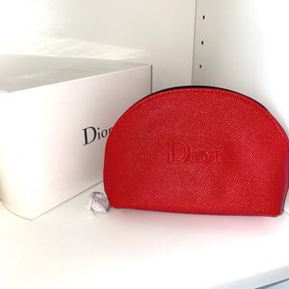 Christian Dior - Dior ノベルティ ポーチ 赤