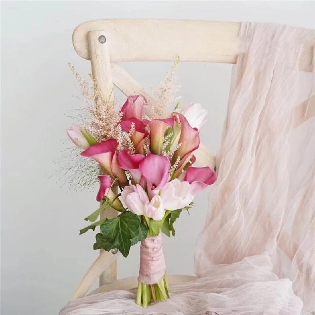 ZARA HOME(ザラホーム)のシフォン フリンジ リボン シルク風リボン 1巻 フラワーアレンジメントに! ハンドメイドのフラワー/ガーデン(その他)の商品写真