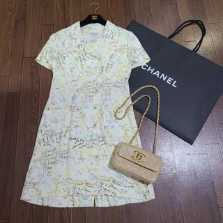 シャネル(CHANEL)のヴィンテージ CHANEL シャネル ワンピース ドレス(ロングワンピース/マキシワンピース)