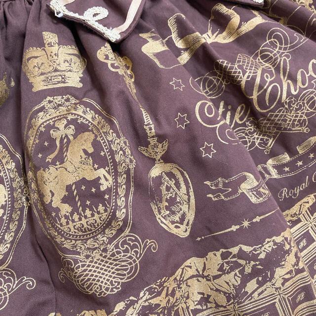 Angelic Pretty(アンジェリックプリティー)のRoyal Creamy Chocolate サロペット jsk op リング レディースのワンピース(ひざ丈ワンピース)の商品写真