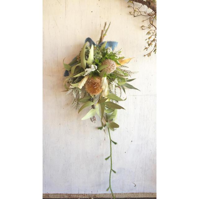 〜バンクシャー の初夏のスワッグ〜ドライフラワースワッグ ハンドメイドのフラワー/ガーデン(ドライフラワー)の商品写真