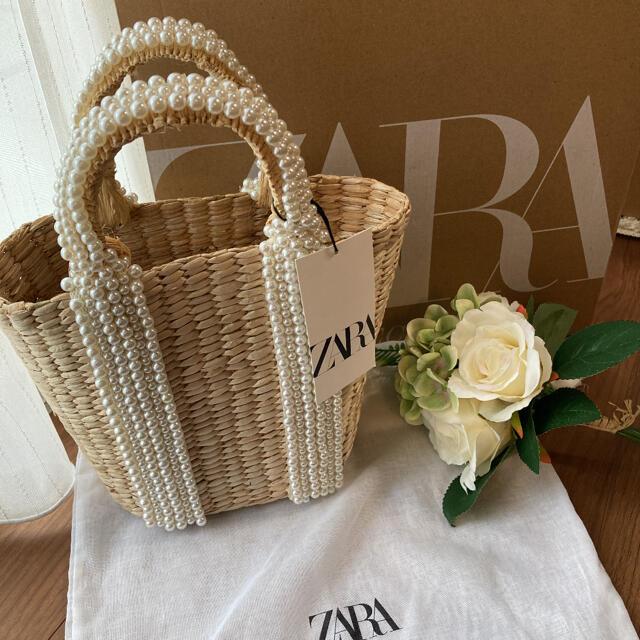 ZARA(ザラ)のZARAかごバック 新品未使用 レディースのバッグ(かごバッグ/ストローバッグ)の商品写真