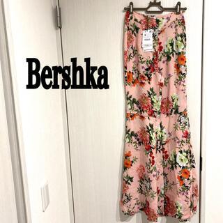 ベルシュカ(Bershka)のBershka 新品 トルコ製 花柄 ワイドパンツ ガウチョパンツ ベルボトム(カジュアルパンツ)