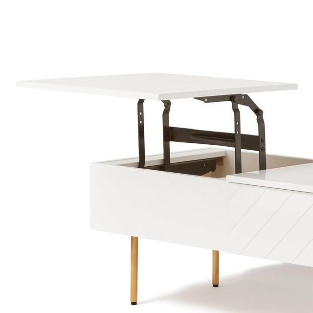 Francfranc(フランフラン)の手渡し可 francfranc リフティングテーブル  ローテーブル 在宅ワーク インテリア/住まい/日用品の机/テーブル(ローテーブル)の商品写真
