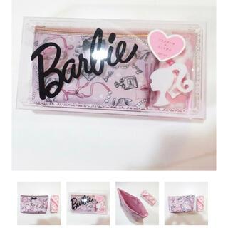 バービー(Barbie)のBarbie コスメポーチ&ミニタオル(ポーチ)