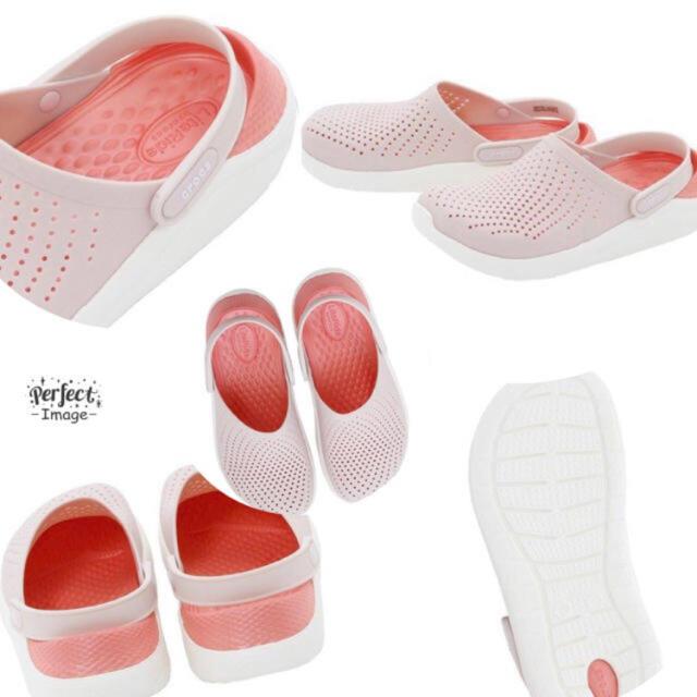 crocs(クロックス)の新品 新素材クロックス ライトライド クロッグ W8 24cm ピンク レディースの靴/シューズ(サンダル)の商品写真