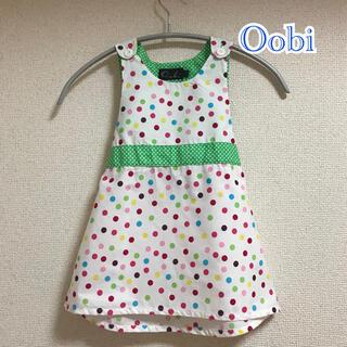 ウーヴィーベビー(Oobi BABY)のOobi 2Y 3Y ワンピース 水玉 ドット カラフル リボン(ワンピース)