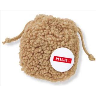 MILKFED. - ミルクフェドミニもこボアきんちゃくとロゴ缶バッチのセット
