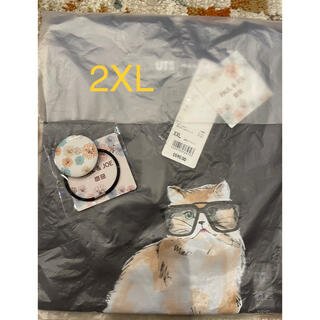 ポールアンドジョー(PAUL & JOE)のUNIQLO ポール&ジョー 猫Tシャツ 2XL(XXL) ヘアゴム付き(Tシャツ(半袖/袖なし))