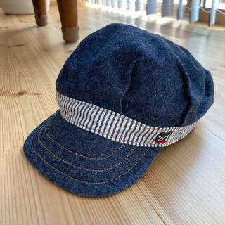 ダブルビー(DOUBLE.B)のミキハウス ダブルビー ブラックベアー刺繍入り キャスケット(帽子)