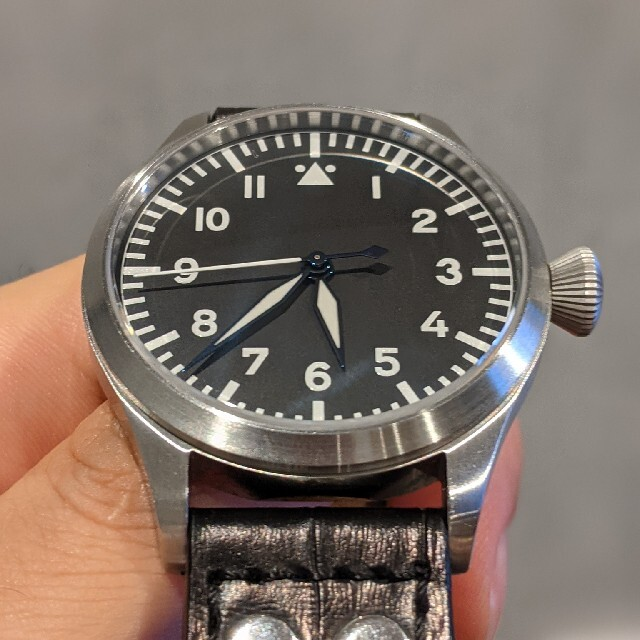 IWC(インターナショナルウォッチカンパニー)のティセル Tisell パイロットウォッチ IWC ゼニス ミヨタ メンズの時計(腕時計(アナログ))の商品写真