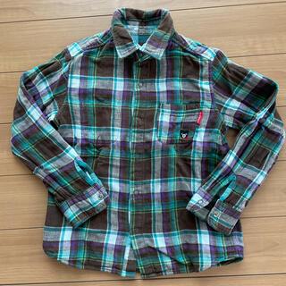 ダブルビー(DOUBLE.B)のダブルB チェックシャツ  リバーシブル 120cm(ブラウス)