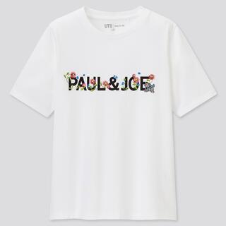 ポールアンドジョー(PAUL & JOE)のXLサイズ ユニクロ ポール&ジョー UTグラフィックTシャツ ロゴ ホワイト(Tシャツ(半袖/袖なし))