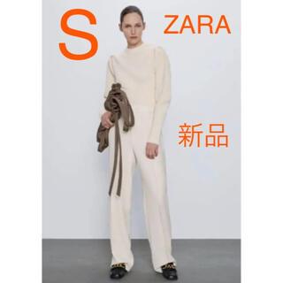 ザラ(ZARA)の【新品タグ付き】ZARA パプスリーブ仕様ニットセーター S 完売品(ニット/セーター)