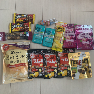ローソン スマホくじ 商品 お菓子色々15点セット(フード/ドリンク券)