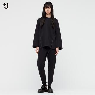 ユニクロ◼︎+j ドライスウェットクルーネックシャツ ブラック