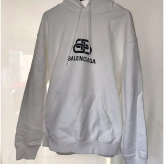 Balenciaga - BALENCIAGA ニューBB ロゴプリント プルオーバー パーカー