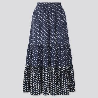 ポールアンドジョー(PAUL & JOE)のLサイズ 新品未使用 UNIQLO ポールアンドジョー スカート ブルー(ロングスカート)