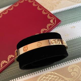 Cartier - カルティエ k18YG ラブブレスレット(カフタイプ)サイズ16