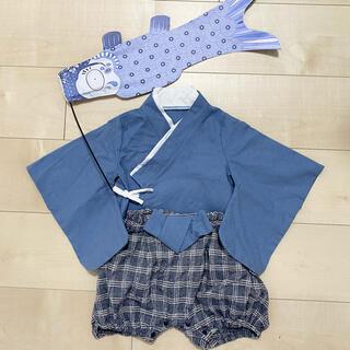 ベビーギャップ(babyGAP)の袴ベビー 赤ちゃん着物 ロンパース 70(和服/着物)