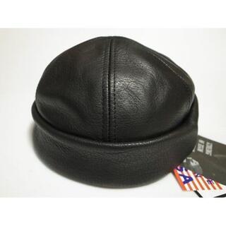ニューヨークハット(NEW YORK HAT)のニューヨークハットLamba Thug本革製ショートワッチ黒 M(その他)