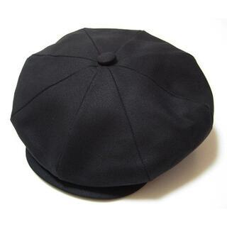 ニューヨークハット(NEW YORK HAT)のニューヨークハットCanvas Newsboyコットン素材 黒 L(キャスケット)