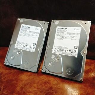 トウシバ(東芝)の3.5インチHDD 3TB 2台セット (TOSHIBA DT01ACA300)(PCパーツ)
