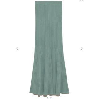 リリーブラウン(Lily Brown)のLily Brown 透かし柄編みニットスカート(ロングスカート)
