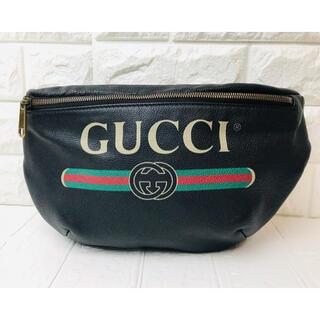 グッチ(Gucci)の☆特別価格☆GUCCI グッチ ウエストポーチ レザー ブラック(ウエストポーチ)
