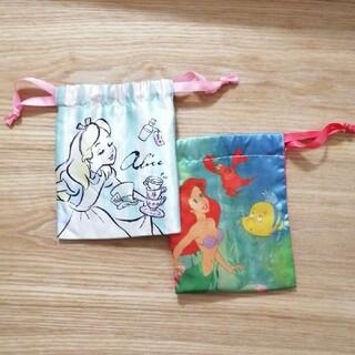 シマムラ(しまむら)のDisney ミニ巾着 2枚セット(ポーチ)