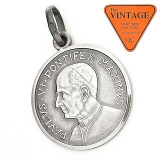 ヴィンテージシルバー800 SVコインペンダント ローマカトリックキリストクロス(ネックレス)