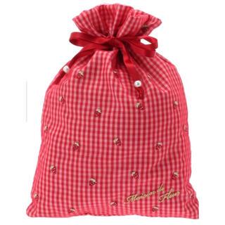 メゾンドフルール(Maison de FLEUR)の新品タグ付♡メゾンドフルール いちご刺繍L巾着(ポーチ)