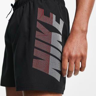 ナイキ(NIKE)の【Mサイズ】 Nike ナイキロゴ スイミング ショートパンツ ブラック(水着)