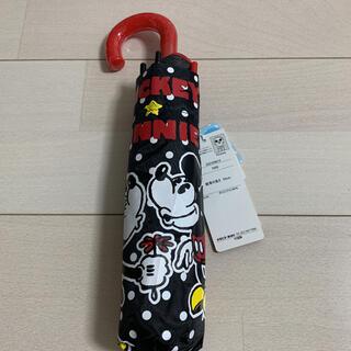 ディズニー(Disney)のディズニー ミッキーミニー 折りたたみ傘 53センチ 新品未使用(傘)