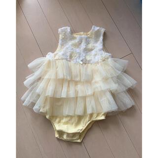 フラワーロンパース 90(ドレス/フォーマル)